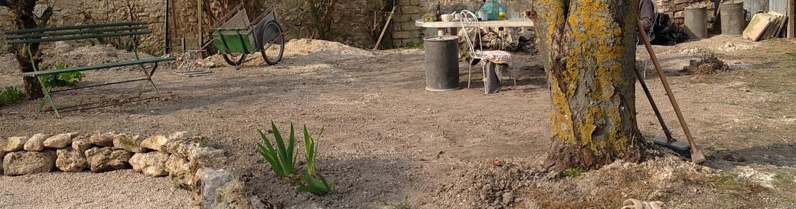 jardin en travaux